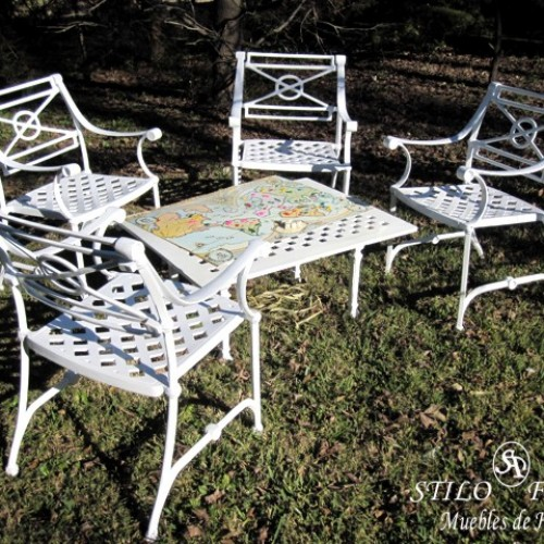 Beautiful juegos de jardin de hierro pictures amazing for Muebles de jardin de hierro